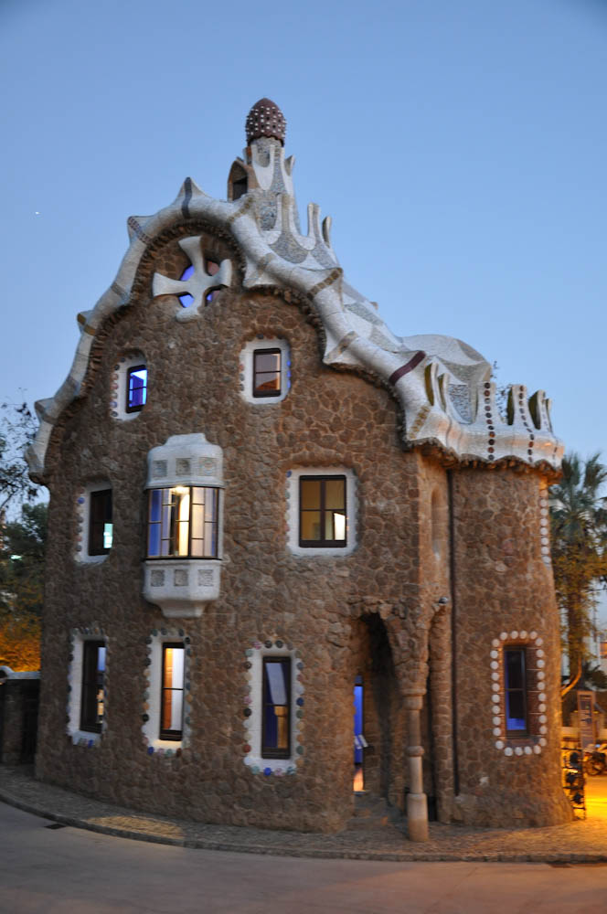 Ginger-bread resembling houses at Park Guell