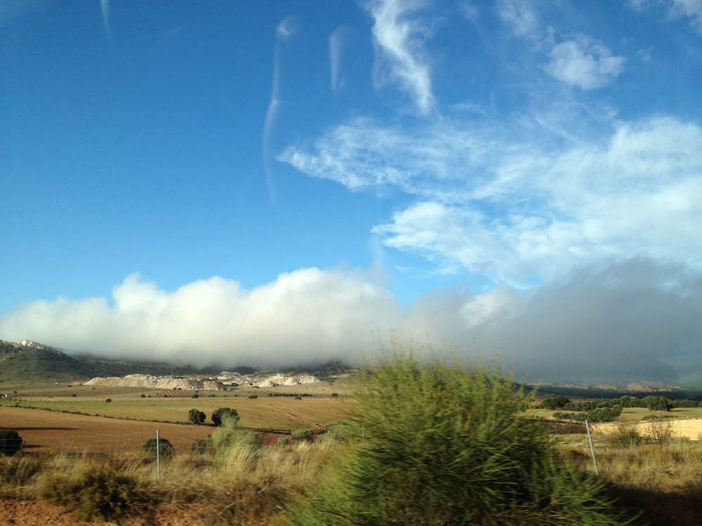 Landscape of Andalucia, from the highway