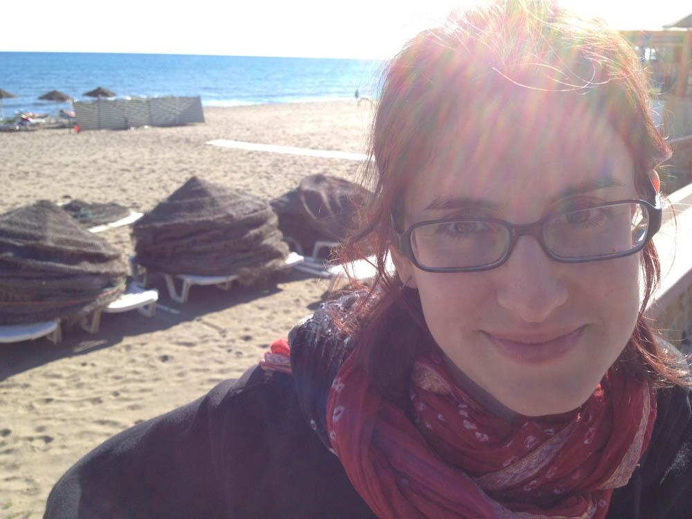 Sunny December at Torremolino's beach