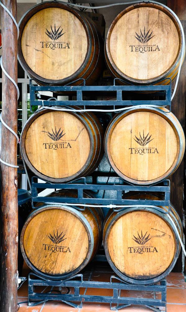 Tequila barrels in Playa del Carmen