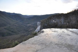 Petrified cascades of Hirve el Agua, Oaxaca