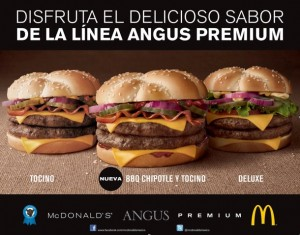 Angus Deluxe, McDonalds in Mexico