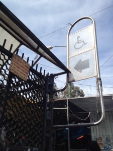 Wheel chair access on Mexico City's metro