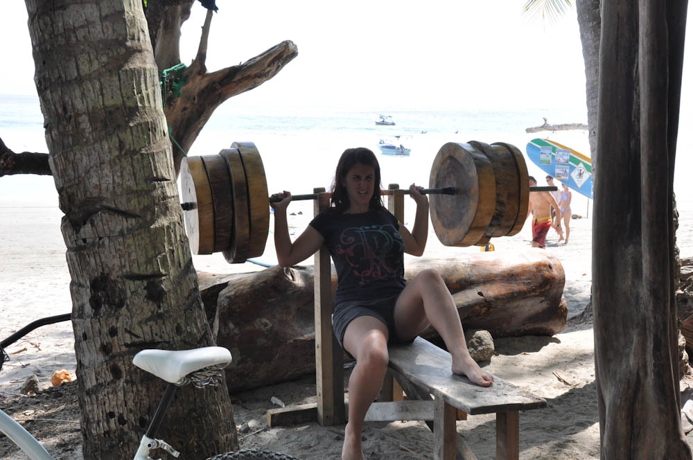 Jungle gym at Samurio's surf school in Samara Beach.