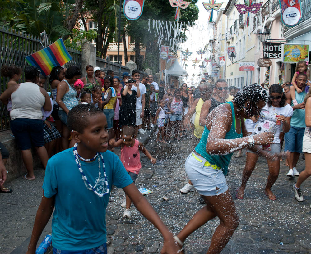 Pelourinho's Afro-Brazilian parade at noon