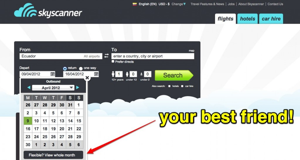 Skyscanner User Interface