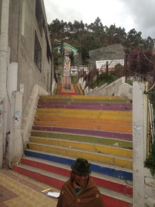 Interesting staircase in an Andean Village