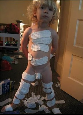 Don't ask me who this kid is as I have no idea. I found him on the internet and yes, it is disturbing, but also funny!