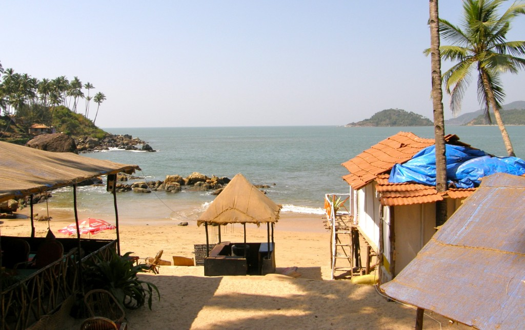 View from our humble hut in Palolem beach.
