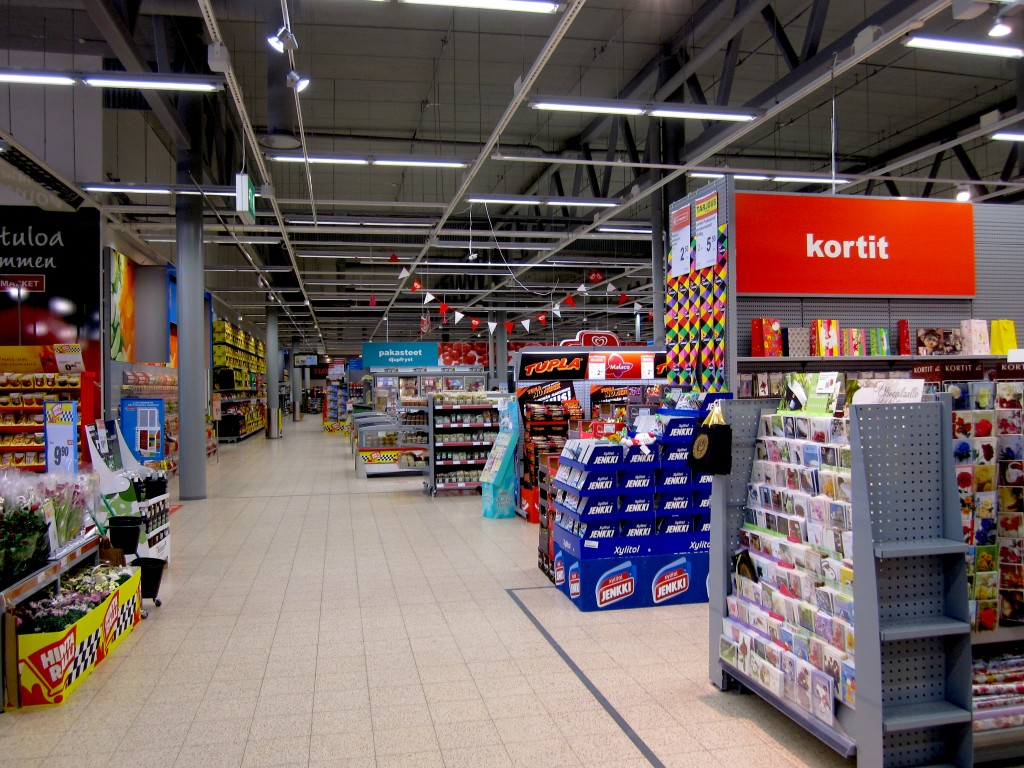 Empty supermarket!