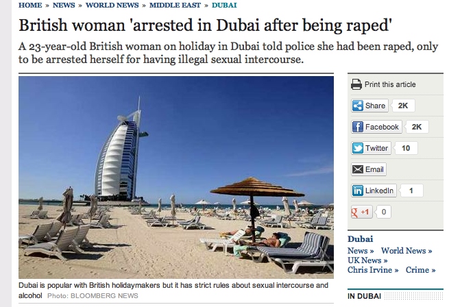 If you are raped in the UAE, you are fucked!