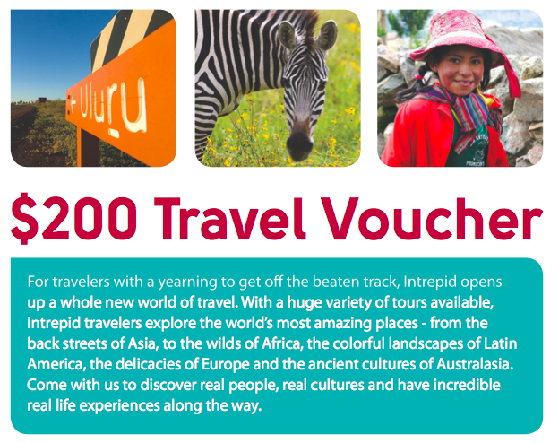Intrepid Travel voucher