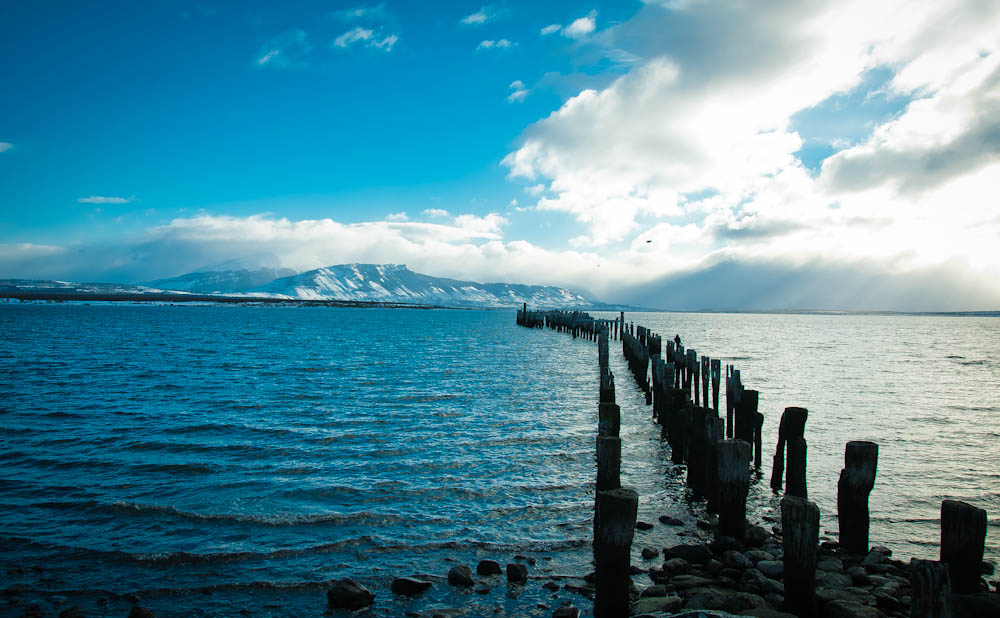 The bay at Puerto Natales, Antarctic region of Chile