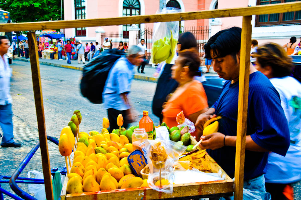 Mango vendor in Merida, Mexico