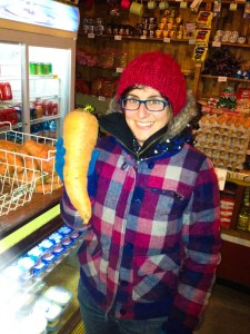 Giant carrot: this is proof that creatures with special powers exist in this land...