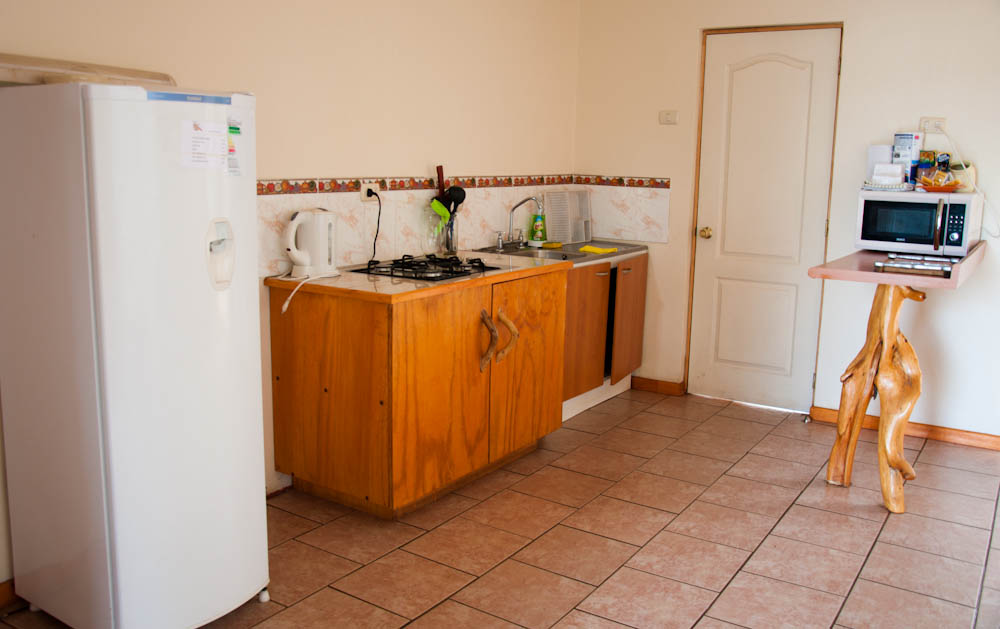 Kitchen at Tea Nui Cabins