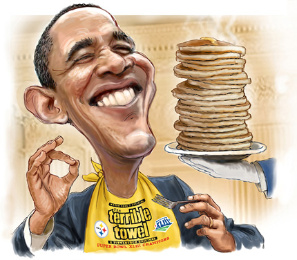 Obama keeps some pancake money for himself too!