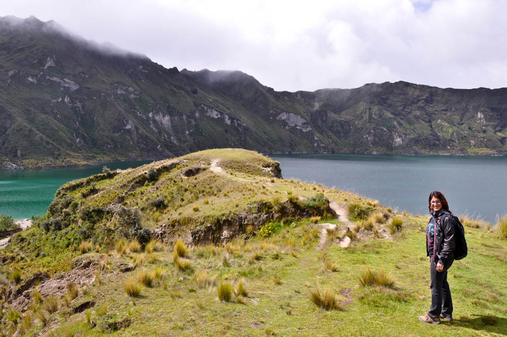 Quilotoa, in pretty Ecuador
