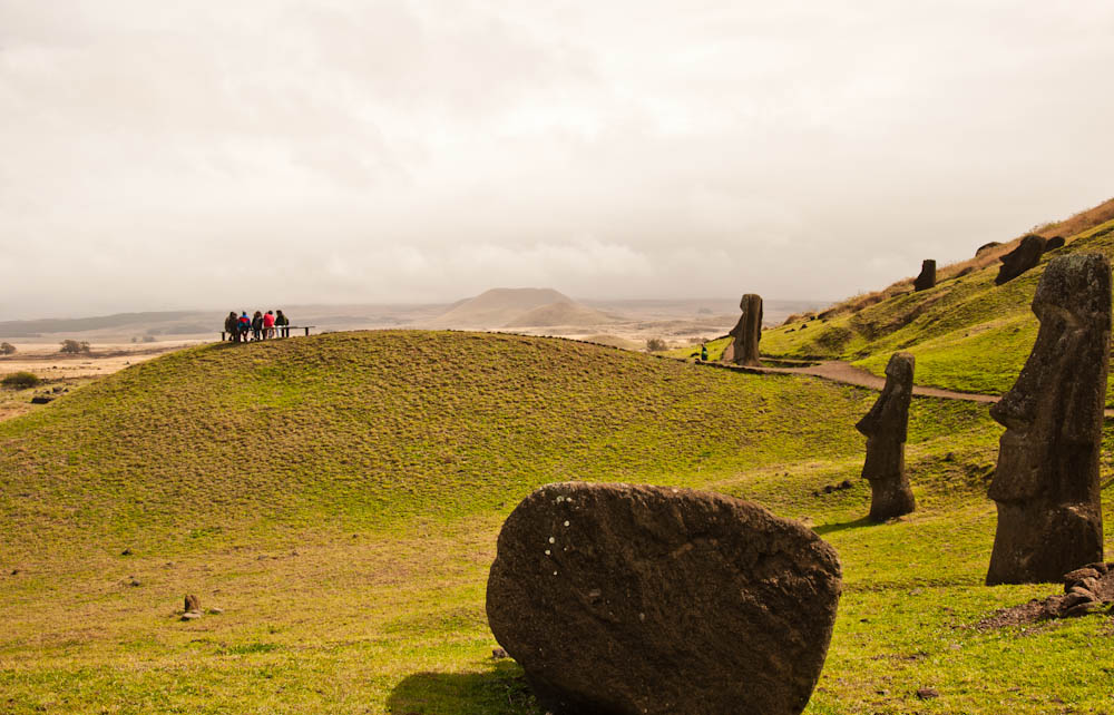 In Rano Raraku some Moais are standing and some have given up!...