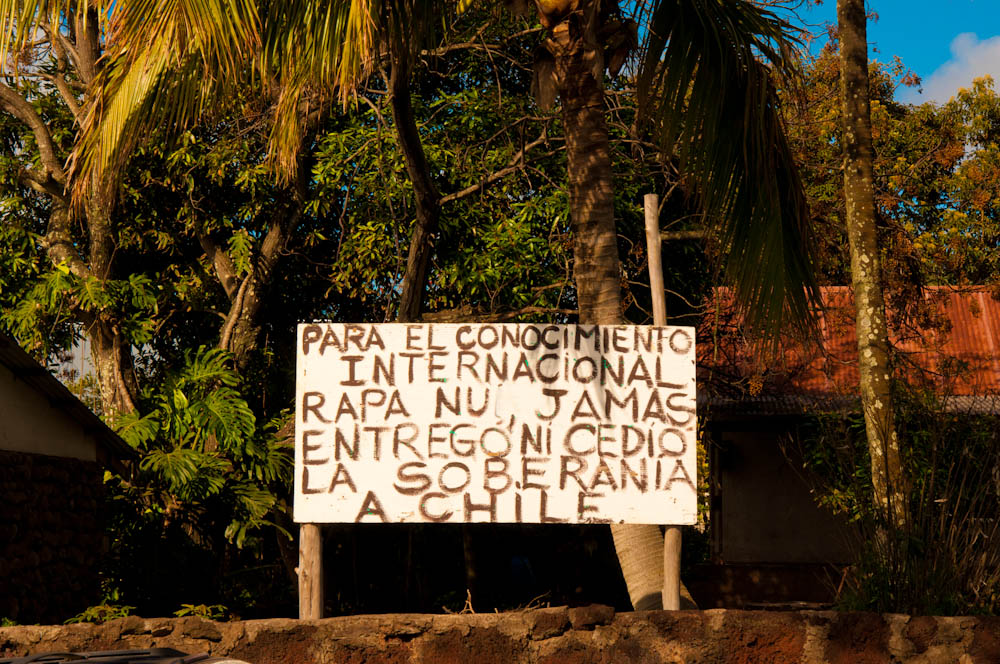"""For international knowledge, Rapa Nui never gave its sovereignty to Chile"""