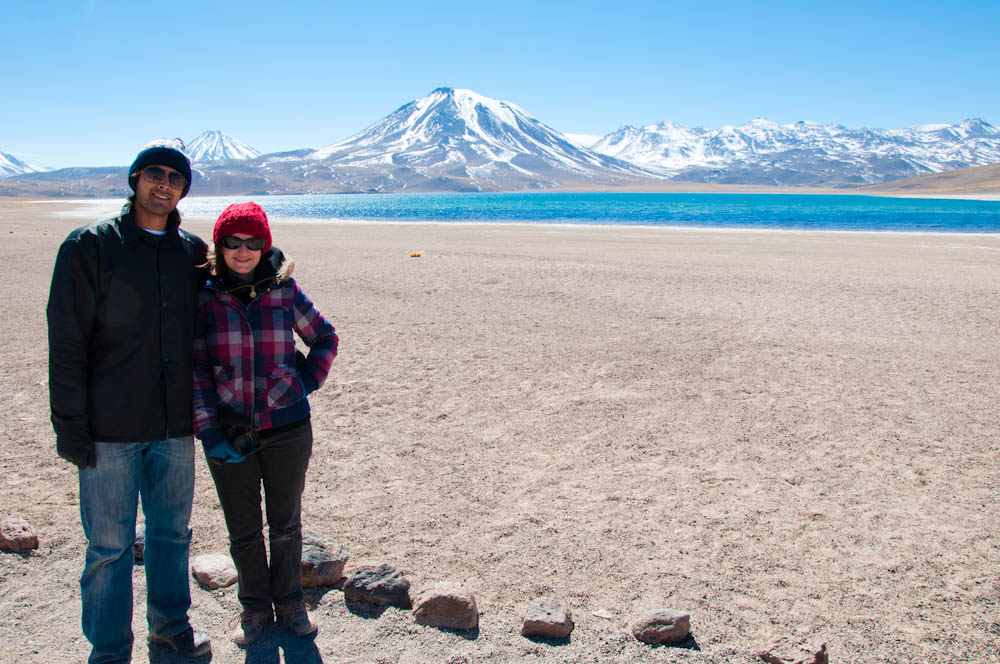A&Z posing by the Altiplanic Lagoons