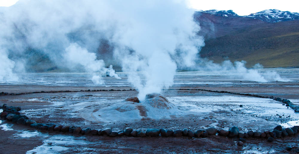El Tatio Geysers at break of dawn