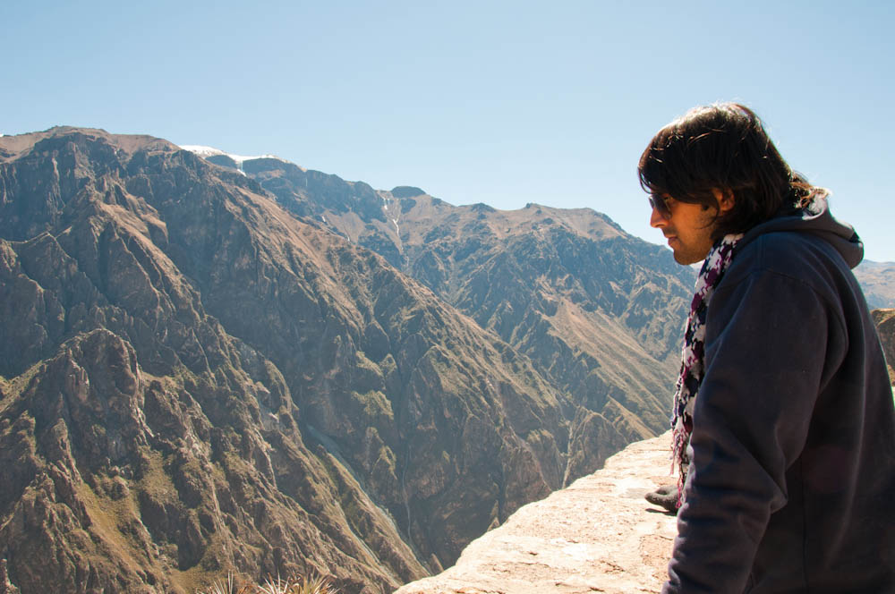 Ashray looking down the Colca Canyon