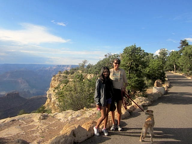 Mary, Finn and I at the Canyon