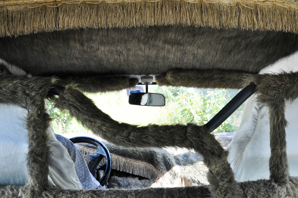 Ethiopians love fur in their cars!