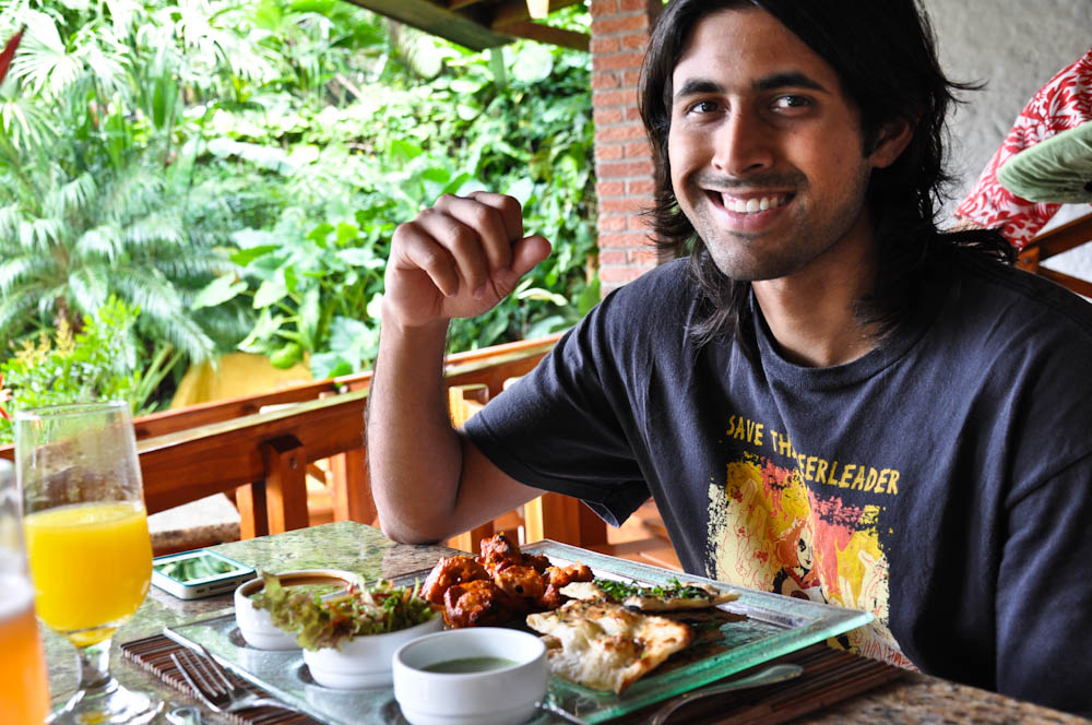 Indian food in Costa Rica, at Tabacon Hotel