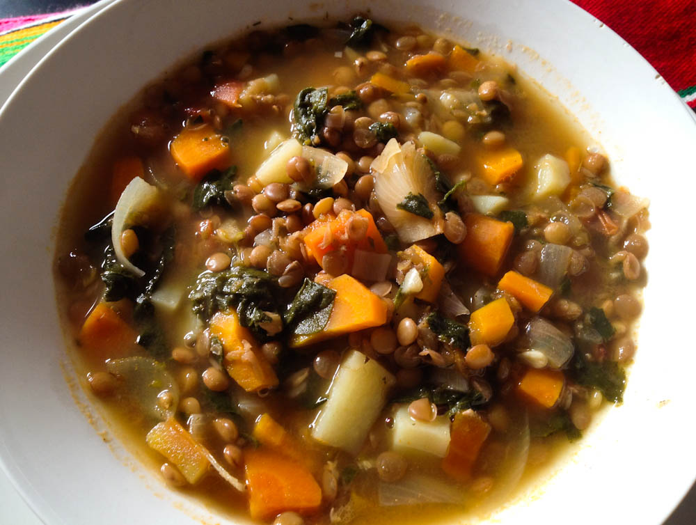 Lentil stew: one of our staple foods