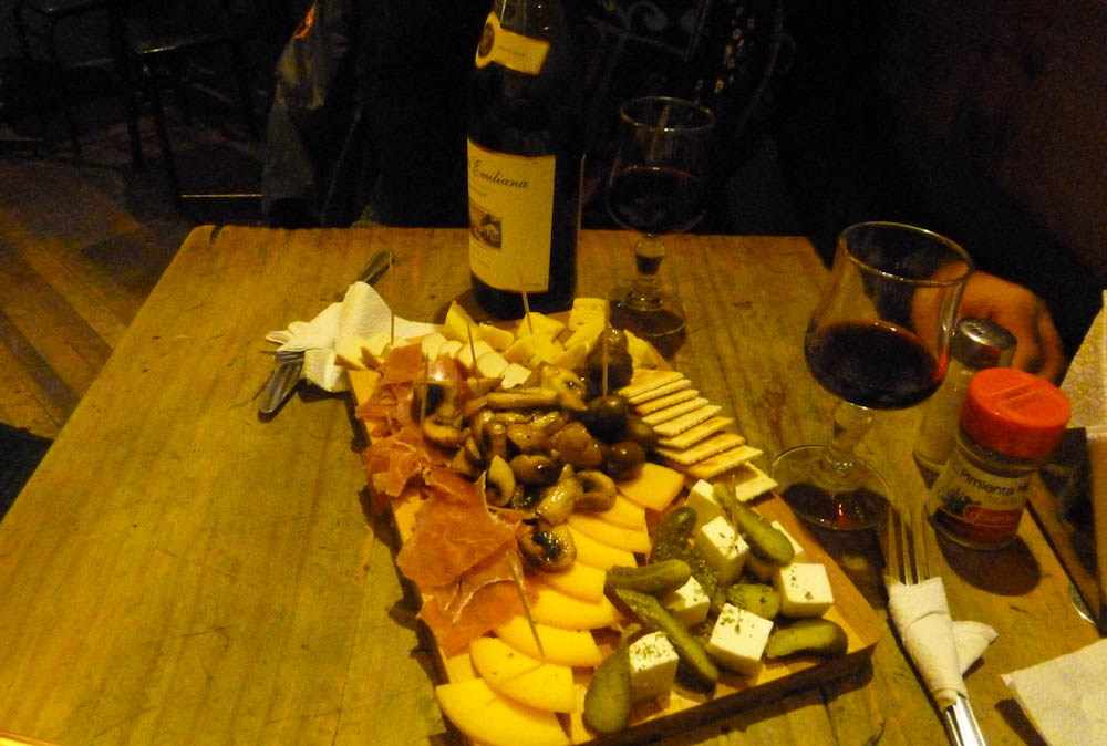 And so we got into tapas and wine...