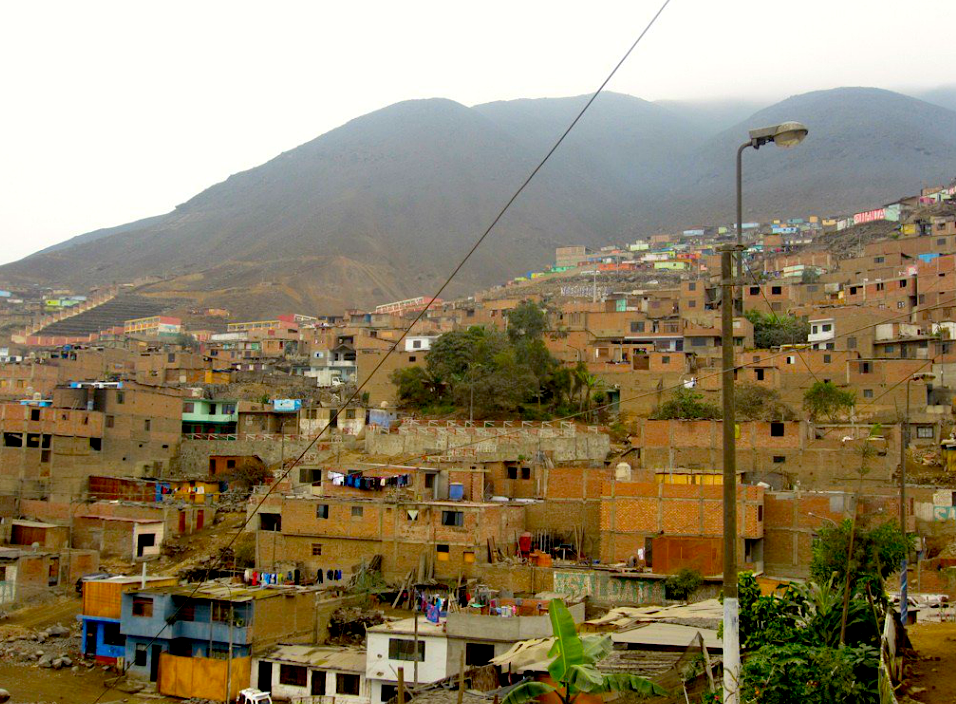 Shanty town of Comas, in Lima (Peru)