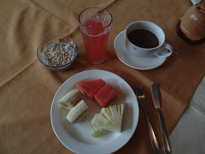New Year's breakfast in Bolivia
