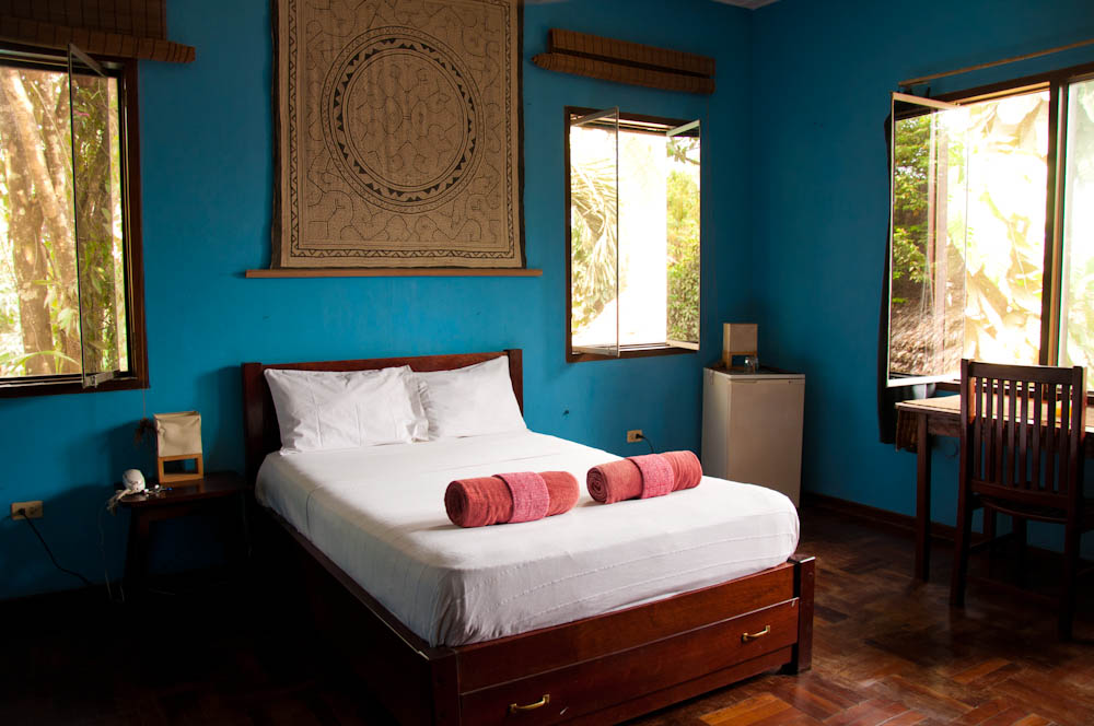 The blue room at Casa Fitzcarraldo, Iquitos