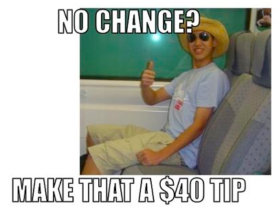 The USA way of tipping!