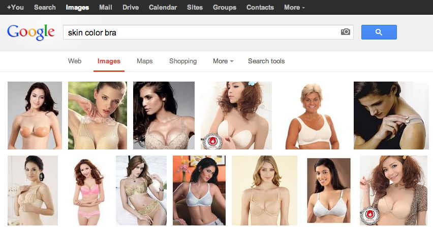 "This is what the world understands when you say ""skin color bra"""