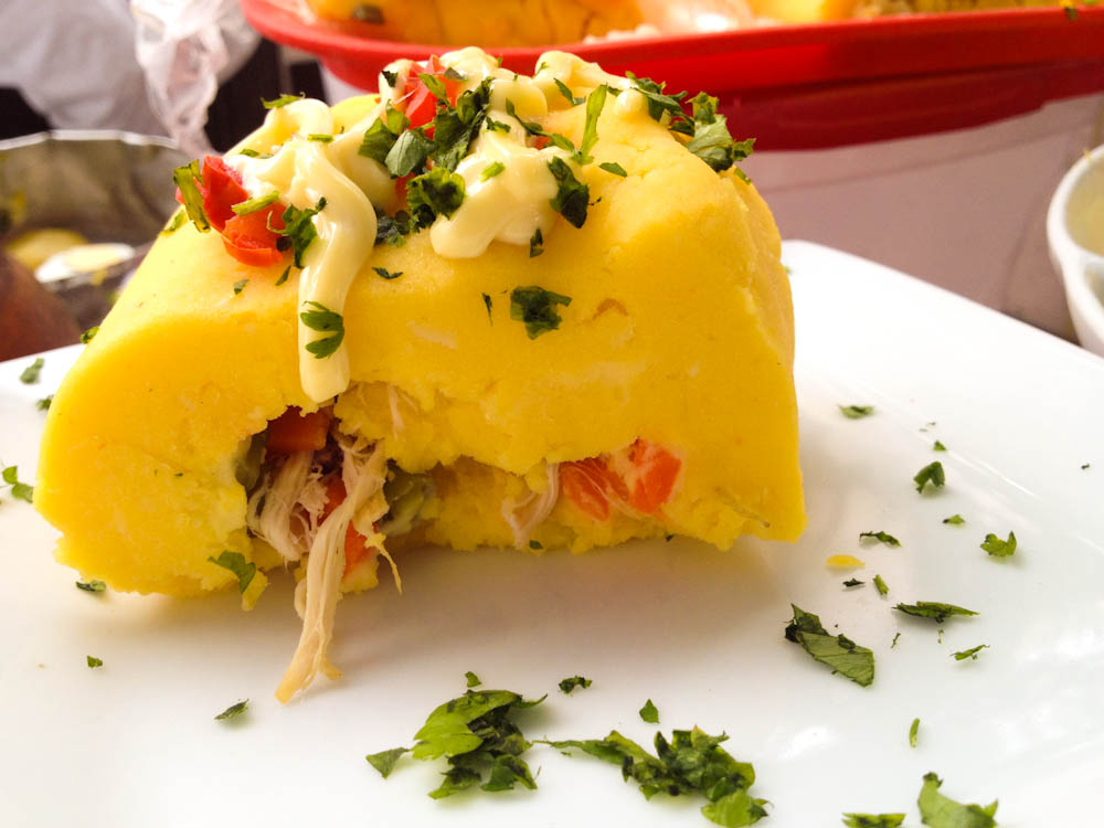 Causa rellena: Lima style stuffed potatoes