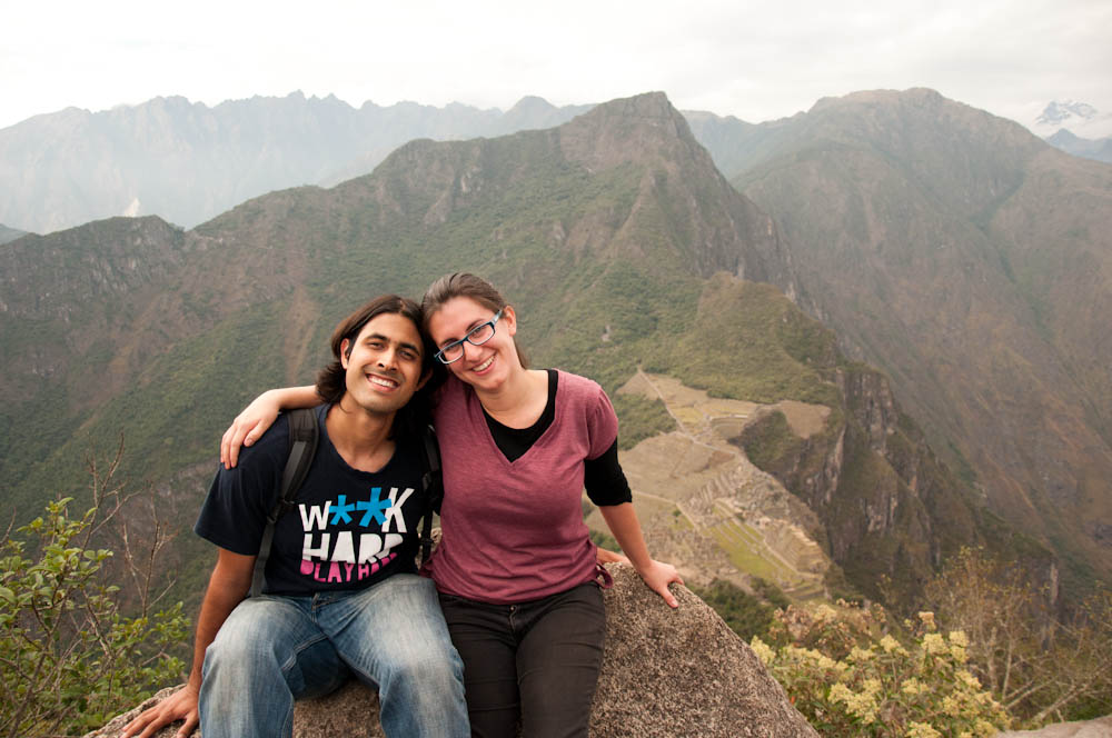 A&Z in Machu Picchu (just before Ashray proposed and Zara had no idea what was going on...)