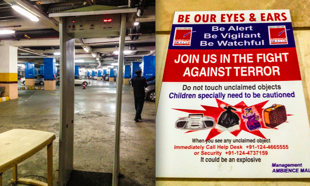 Safety measures and notice in a regular shopping mall