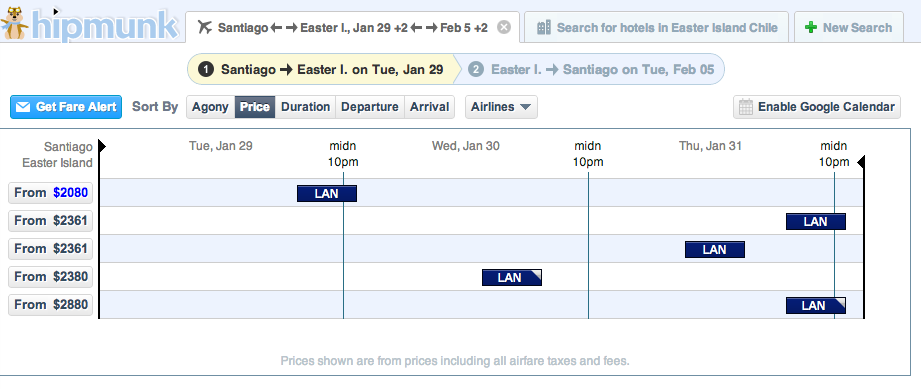 Holy Moai! This is proof that last minute flights to Easter Island are NOT a good deal!