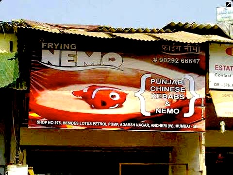 As if the movie wasn't sad enough... now they're FRYING Nemo!! :(