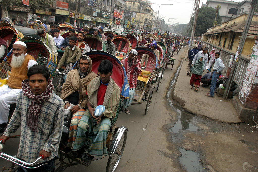 Dhaka Rickshaws. Photo source & credit: http://bit.ly/UMV7YU