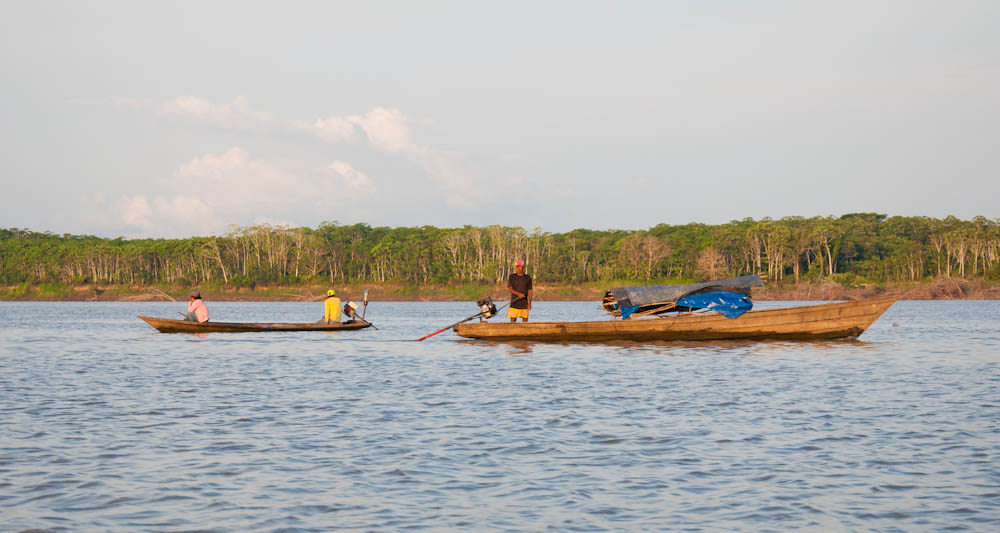 Fishermen making a living in the Amazon River
