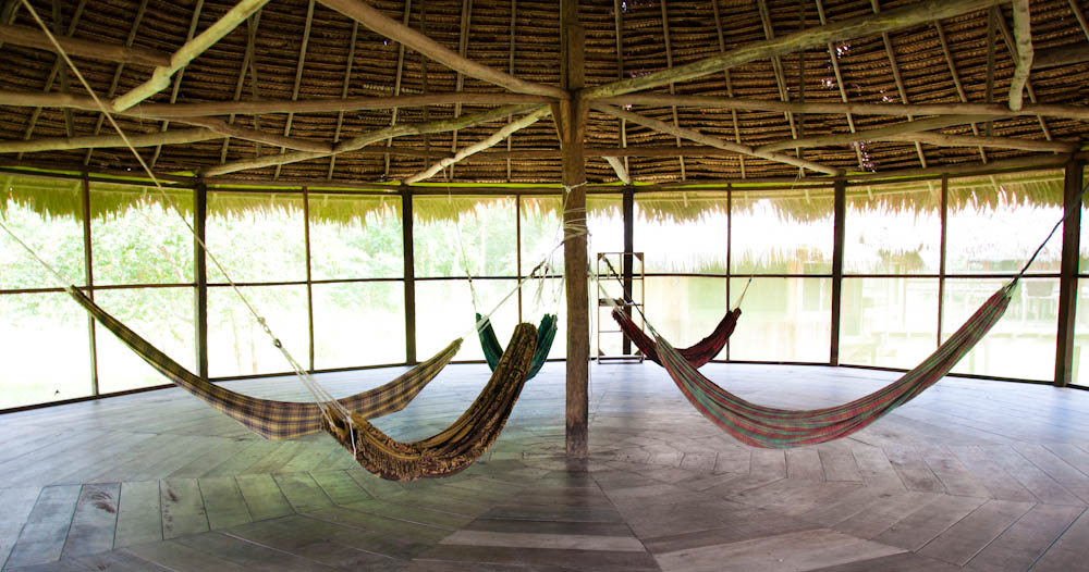 Hammocks area at Chullachaqui Eco Lodge