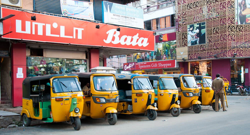 An army of auto rickshaws.