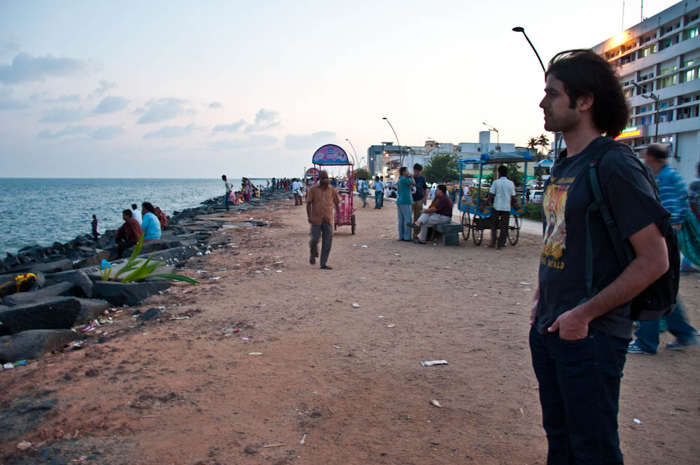 Puducherry's beach front