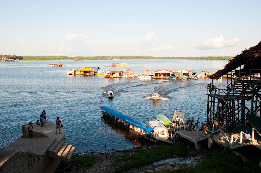 In Iquitos: where we caught a boat to go deeper into the jungle.
