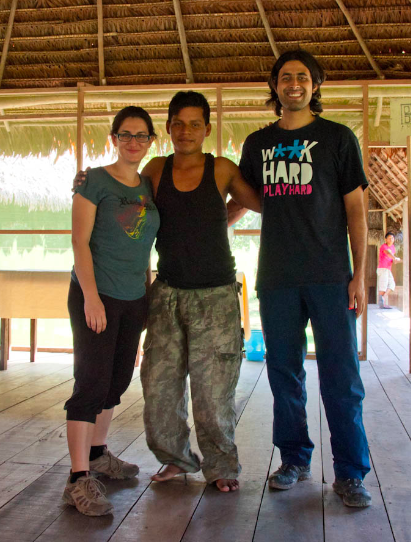 With Lobo, our jungle guide!