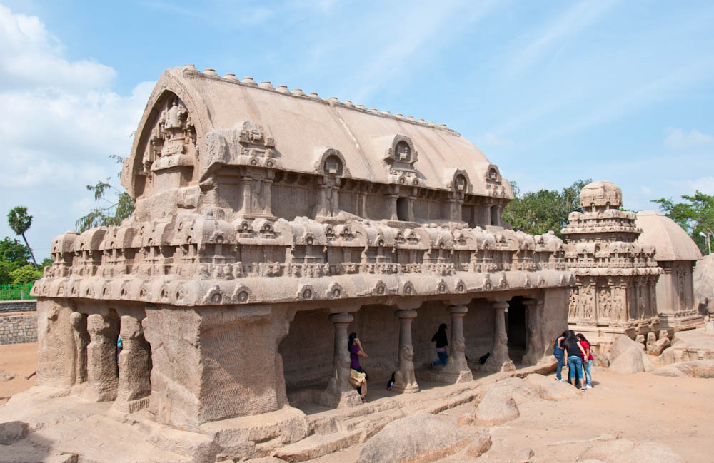 The Rathas are figures of charriots surrounded by stone animals